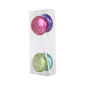 "Candy Lollipop 10"" Set of 4 Asst."