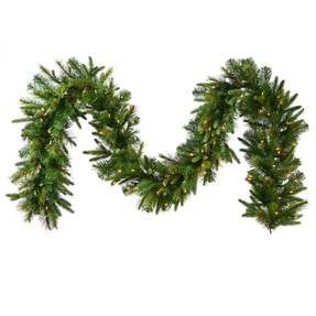 Green River Pine Garland LED 9' x 14""