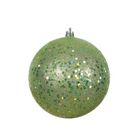 """Celadon Ball Ornaments 6"""" Sequin Set of 4"""