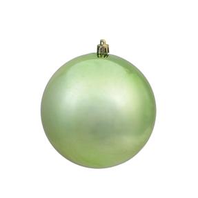 "Celadon Ball Ornaments 8"" Shiny Set of 4"
