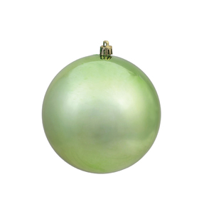 "Celadon Ball Ornaments 12"" Shiny Set of 2"