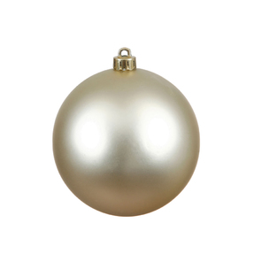 "Champagne Ball Ornaments 4"" Matte Set of 6"