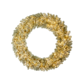 5' Champagne Wreath LED 8 Functions