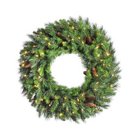 Cheyenne Pine Wreath LED 24""