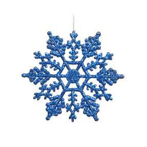 "Large Christmas Snowflake Ornament 6.25"" Set of 12 Blue"