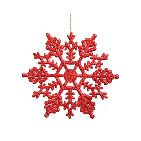 "Christmas Snowflake Ornament 4"" Set of 24 Red"