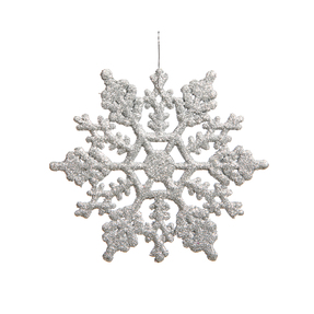 "Large Christmas Snowflake Ornament 6.25"" Set of 12 Silver"