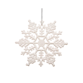 "Christmas Snowflake Ornament 4"" Set of 24 White"