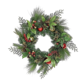 Christmas Cheer Wreath 24""