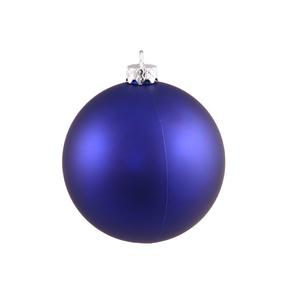"Cobalt Ball Ornaments 6"" Matte Set of 4"