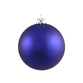 "Cobalt Ball Ornaments 8"" Matte Set of 4"