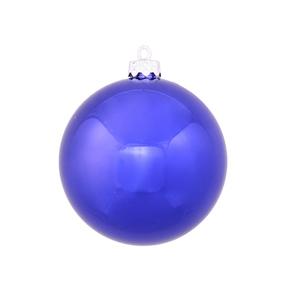 """Cobalt Ball Ornaments 6"""" Shiny Set of 4"""