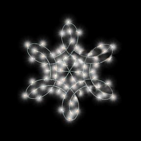 Double Spiral Snowflake Pole Mount 4'