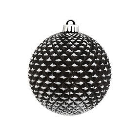 "Diamond Glitter Ball 2.75"" Set of 12 Black"