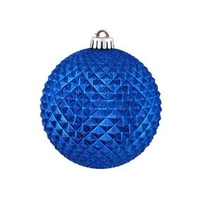 "Diamond Glitter Ball 4"" Set of 6 Blue"