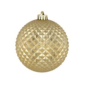 "Diamond Glitter Ball 6"" Set of 4 Champagne"