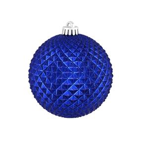 """Diamond Glitter Ball 4"""" Set of 6 Cobalt"""