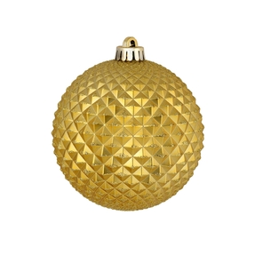 "Diamond Glitter Ball 2.75"" Set of 12 Gold"
