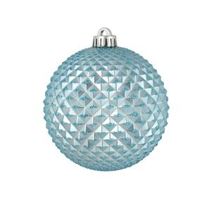 "Diamond Glitter Ball 6"" Set of 4 Ice Blue"