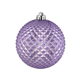 "Diamond Glitter Ball 6"" Set of 4 Lavender"