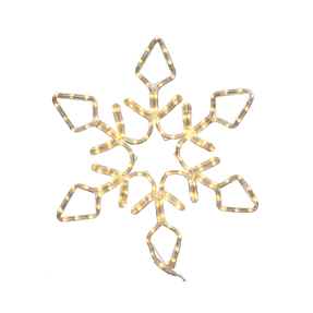 LED Diamond Snowflake 24""