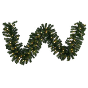 Douglas Fir Garland LED 9' x 16""