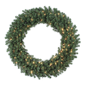 6' Douglas Fir Wreath w/Clear Lights