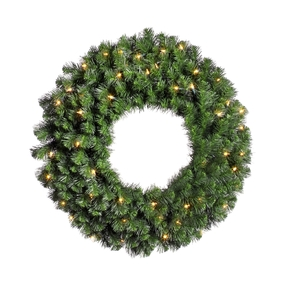 Douglas Fir Wreath LED 24""