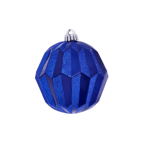 "Elara Sphere Ornament 5"" Set of 3 Blue"
