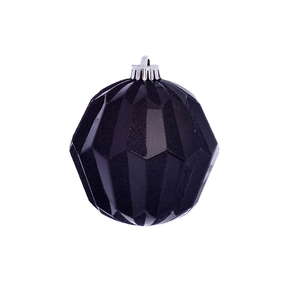 "Elara Sphere Ornament 5"" Set of 3 Black"