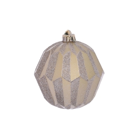 "Elara Sphere Ornament 5"" Set of 3 Champagne"