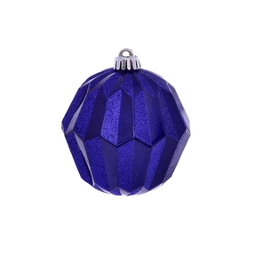 "Elara Sphere Ornament 5"" Set of 3 Cobalt"