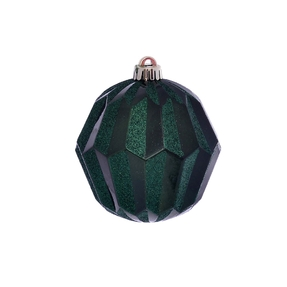 "Elara Sphere Ornament 5"" Set of 3 Emerald"