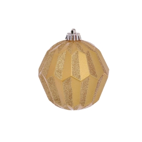 "Elara Sphere Ornament 5"" Set of 3 Gold"
