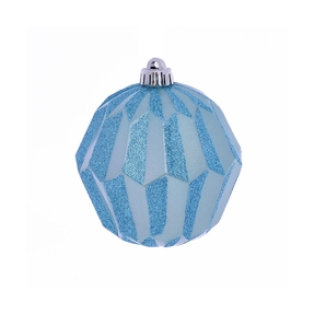 "Elara Sphere Ornament 5"" Set of 3 Ice Blue"
