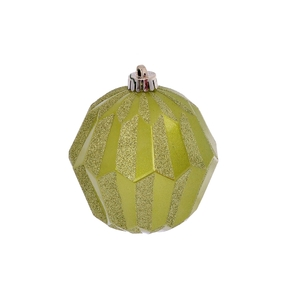 "Elara Sphere Ornament 5"" Set of 3 Lime"