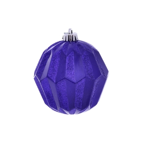 "Elara Sphere Ornament 5"" Set of 3 Purple"