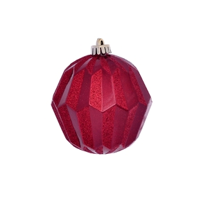 "Elara Sphere Ornament 5"" Set of 3 Red"