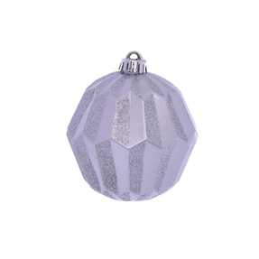 "Elara Sphere Ornament 5"" Set of 3 Silver"