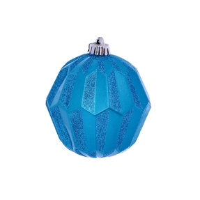 "Elara Sphere Ornament 5"" Set of 3 Turquoise"