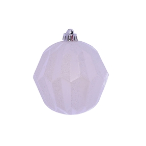 "Elara Sphere Ornament 5"" Set of 3 White"