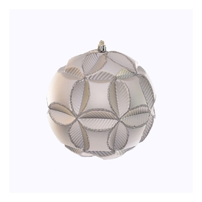 """Tokyo Sphere Ornament 6"""" Set of 2 Champagne"""