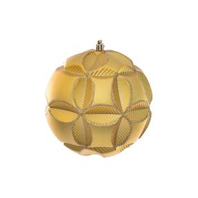 "Tokyo Sphere Ornament 6"" Set of 2 Gold"