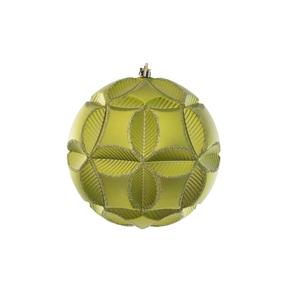 """Tokyo Sphere Ornament 6"""" Set of 2 Lime"""