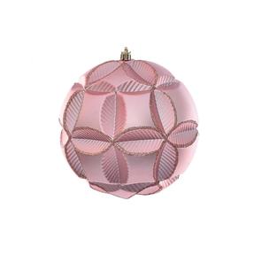 "Tokyo Sphere Ornament 6"" Set of 2 Rose Gold"