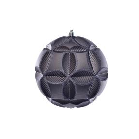 "Tokyo Sphere Ornament 6"" Set of 2 Pewter"