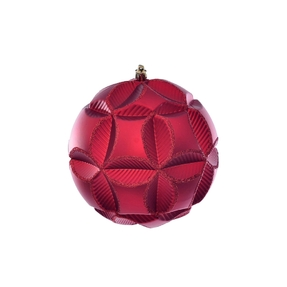 """Tokyo Sphere Ornament 6"""" Set of 2 Red"""