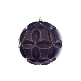 "Tokyo Sphere Ornament 6"" Set of 2 Truffle"