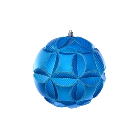 """Tokyo Sphere Ornament 6"""" Set of 2 Turquoise"""