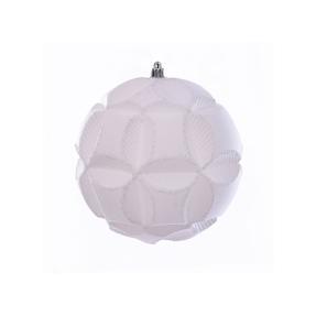 "Tokyo Sphere Ornament 6"" Set of 2 White"